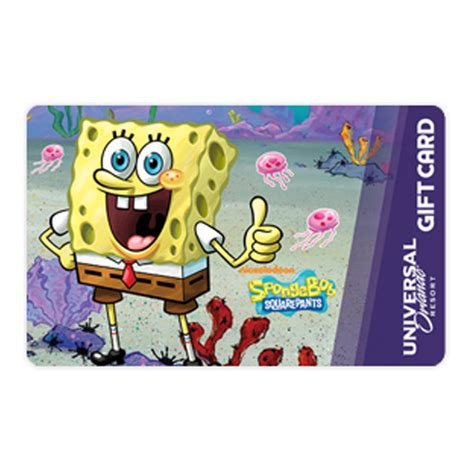 Gift Card Universal - your wdw store universal collectible gift card spongebob squarepants