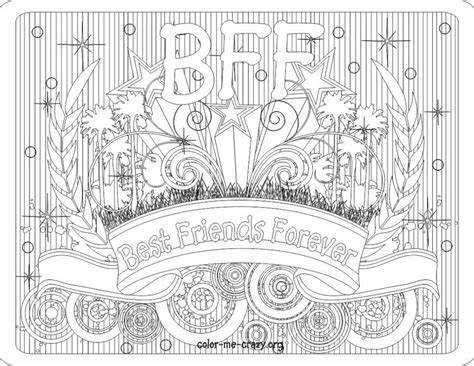 free bff picture coloring pages