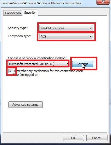 connecting to secure wireless network in windows 7