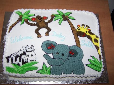 Jungle Theme Baby Shower Cakes by Baby Shower Cakes Baby Shower Cake Ideas Jungle Theme
