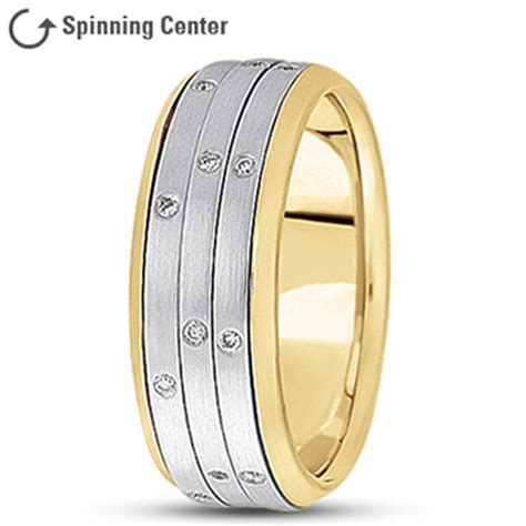 spinner wedding bands  mdc diamonds
