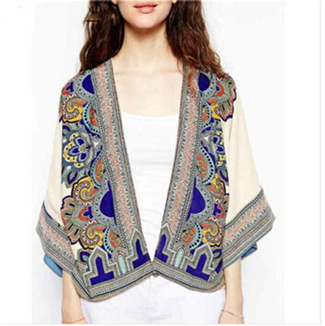 tribal pattern kimono aliexpress com buy fashion women elegant tops pattern