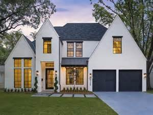 modern tudor white with black windows partial metal modern tudor style homes submited images