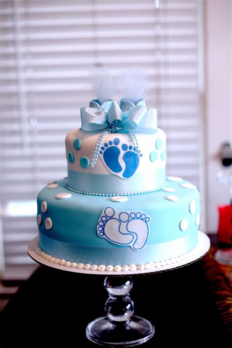 tiered baby shower cakes hector s custom cakes boy baby shower cake 2 tiered