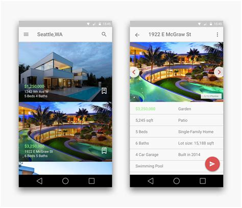 apps for designing houses real estate app android materialup