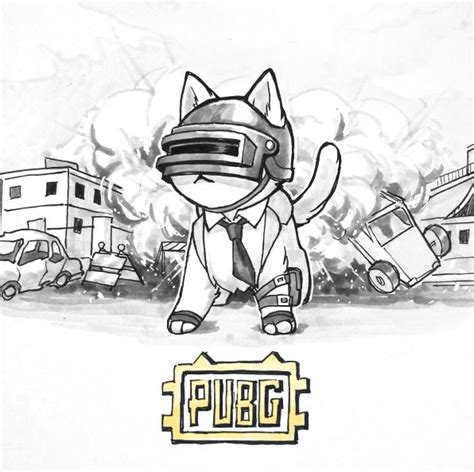 Pubg Coloring Pages by I Drew My Pubg Adventures As Cats Pubattlegrounds
