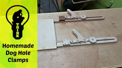 homemade wooden clamps  dog hole bench   youtube