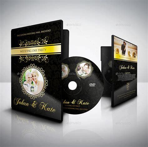 wedding dvd template wedding dvd cover and label template bundle vol 1 by