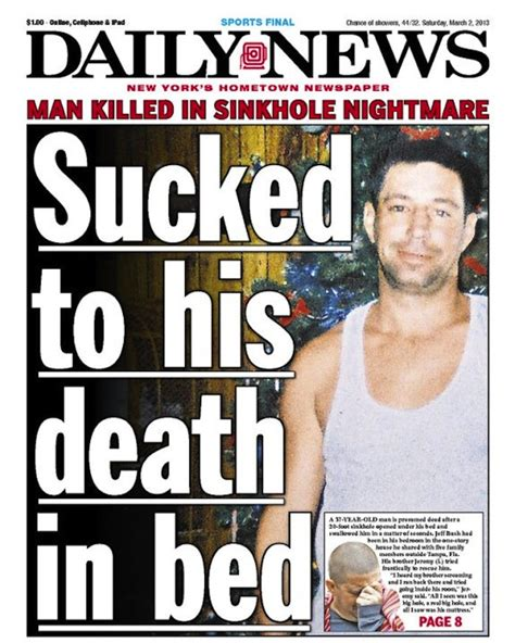 sucked to his death in bed anorak new york daily news writes year s most bad taste
