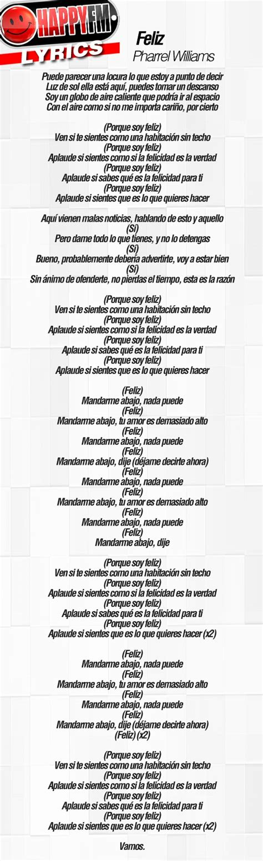 printable lyrics to happy by pharrell williams pics for gt happy lyrics pharrell williams