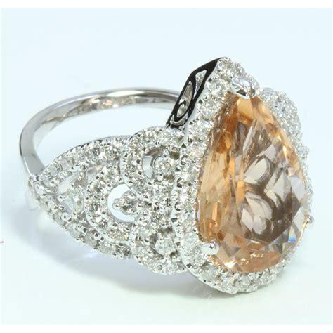 8 05ct Imperial Golden Topaz 14k white gold ring 9 09gram 1 05ct imperial topaz