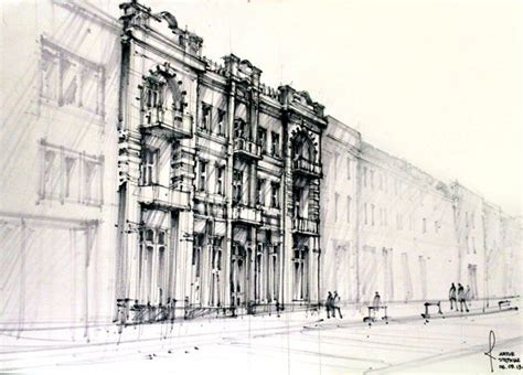 architectural drawing pen pencil architecture drawings arch student