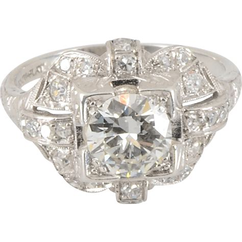 1 20 carat center engagement ring from