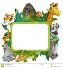 banner frame border jungle safari theme