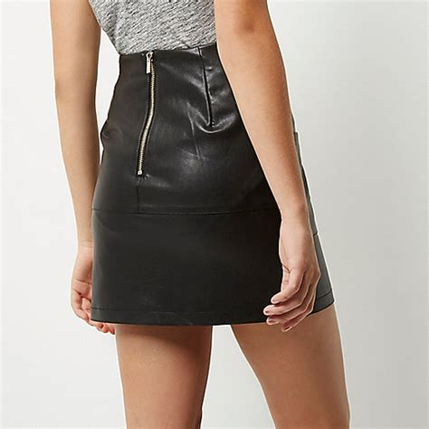 Promo Bergo Pocket Mini Uk Xl Termurah large discount river island outlet black leather look patch pocket mini skirt just for you