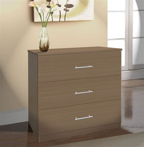 dresser for room modern 3 drawer dresser small chest of drawers contempo space