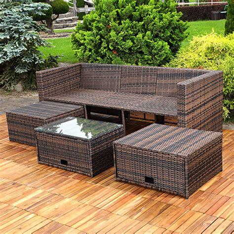 ottomane einzeln polyrattan sitzm 246 bel schwarz sitzgruppe sofa lounge