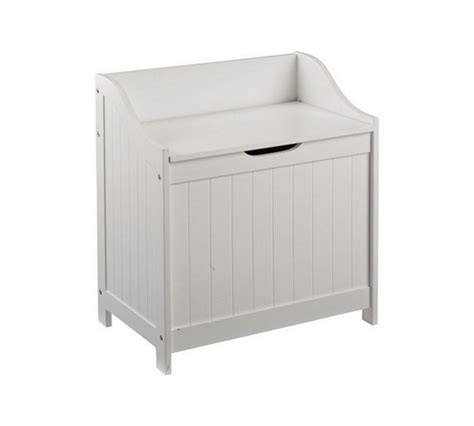 argos laundry buy home 55 litre monks bench style laundry box white at