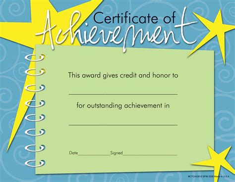 10 certificates of achievement certificate templates