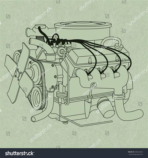 common circuit diagram symbols stock vector image 68934130