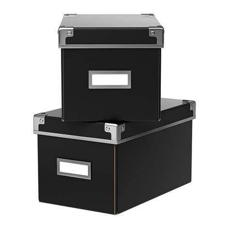lada da scrivania ikea kassett l 229 da med lock svart 27x35x18 cm ikea 59 kr