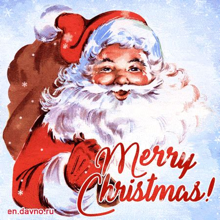 vintage santa claus merry christmas gif animation   funimadacom