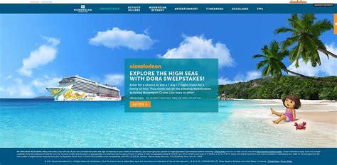 Norwegian Cruise Sweepstakes - norwegian cruise line treasure your vacation with spongebob sweepstakes nickmom com