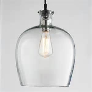 glass pendants lights large carafe glass pendant light
