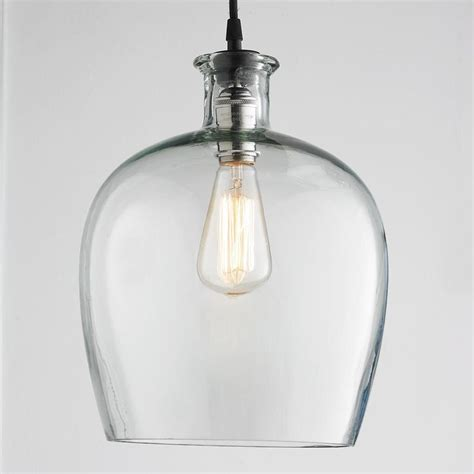Glass Light Pendants Large Carafe Glass Pendant Light