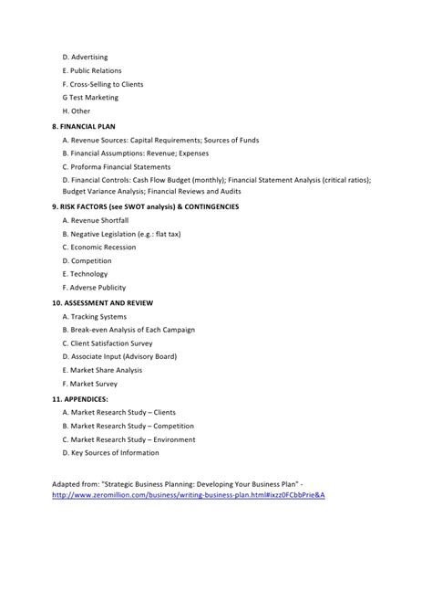 Study Strategies Outline by 12 Strategic Business Plan Outline