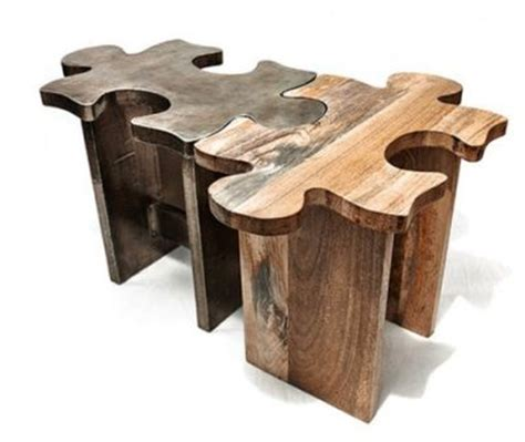 Unique Wooden Coffee Table Or Stool Jigsaw Puzzle Cool Wooden Coffee Tables