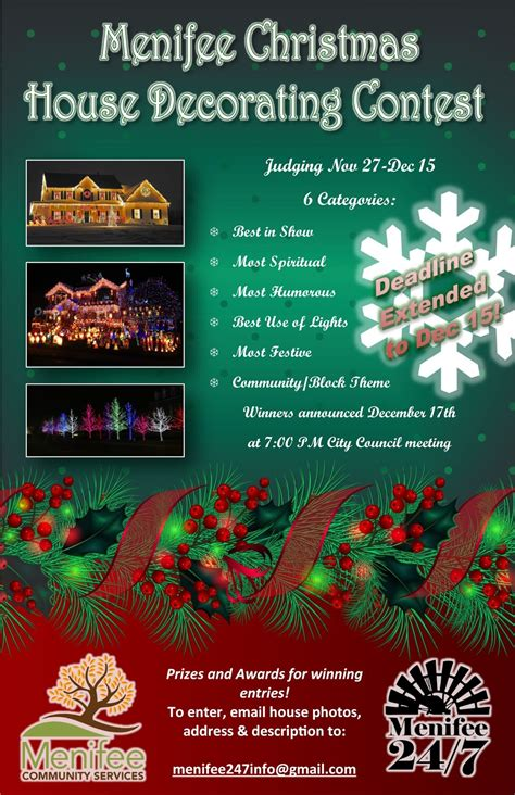 christmas contest voting flyer house decorating contest deadline extended menifee 24 7