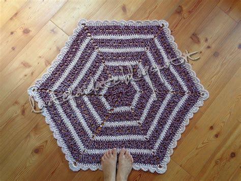 tappeto all uncinetto tappeto esagonale fatto all uncinetto per la casa e per