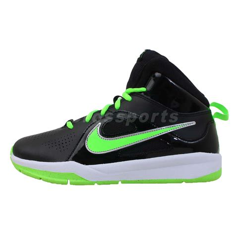 youth basketball shoes nike team hustle d 6 gs green lime 2013 boys youth