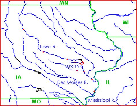 map of iowa rivers iowa river basin map