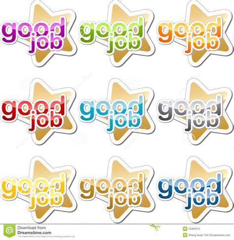 printable good job stickers good job motivation sticker stock image image 19491011