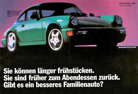 Porsche Anzeige by Aus Den 90ern Agentur Jung Von Matt F 252 R Porsche