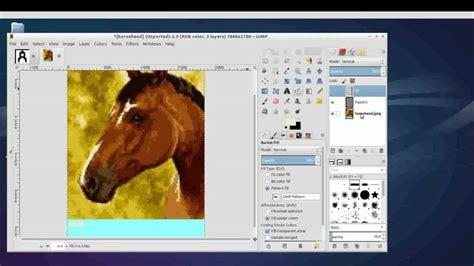 Making Custom Latch Hook Patterns Using Gimp Youtube Latch Hook Design Templates