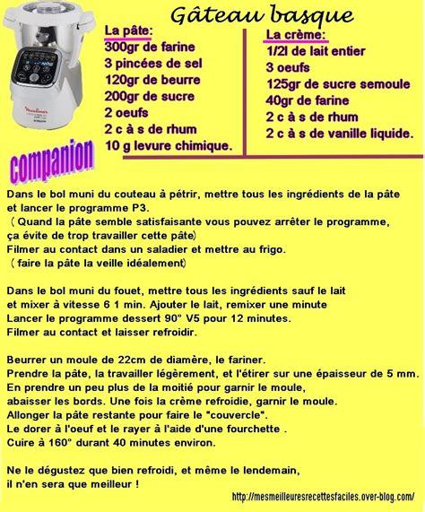 recettes cuisine l馮鑽e g 226 teau basque au companion mes meilleures recettes faciles