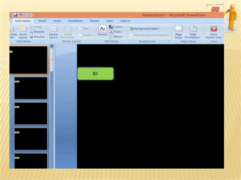 tilan layout presentasi pada menu view template presentasi menggunakan powerpoint