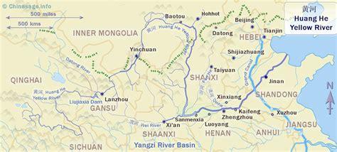 yellow river map yellow river huang he