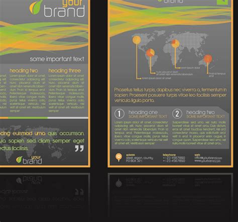commonly business brochure cover design vector 01 free commonly flyer and business card design vector 01 vector