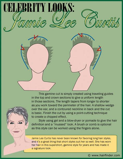 How To Get The Jamie Lee Curtis Haircut | the short wash and wear hairstyle of jamie lee curtis for