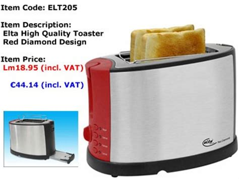 Quality Toaster Elt205 Elta Series H Quality Toaster Top Up