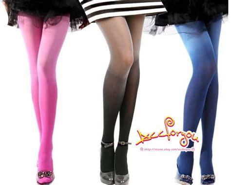 Celana Semi Legging Color 7 colors fashion trend semi opaque gradient tights gift ebay