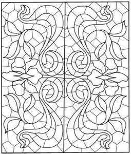 coloriage mandala carr 233 avec motif de vitraux