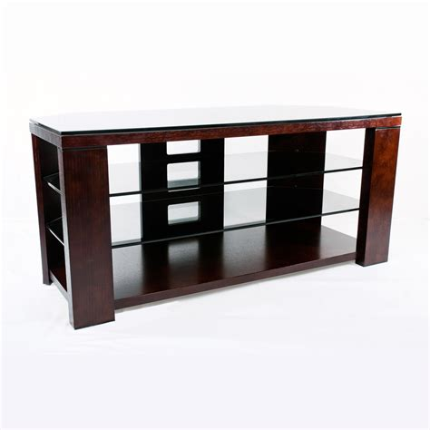 Open Shelf Tv Stand by Open Chocolate Oak 2 Glass Shelf Lcd Plasma Tv Stand 32 42