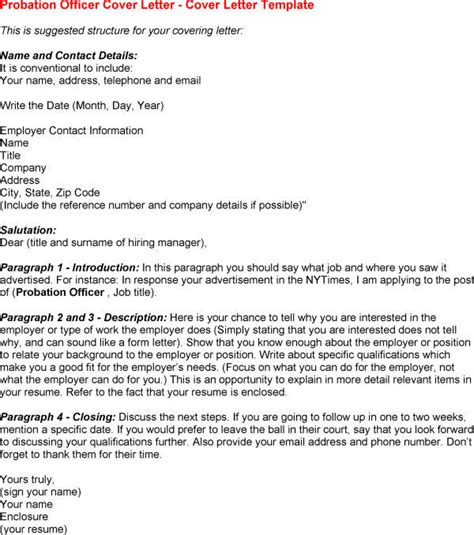 Federal Officer Cover Letter by Federal Probation Officer Cover Letter Cover Letter Templates