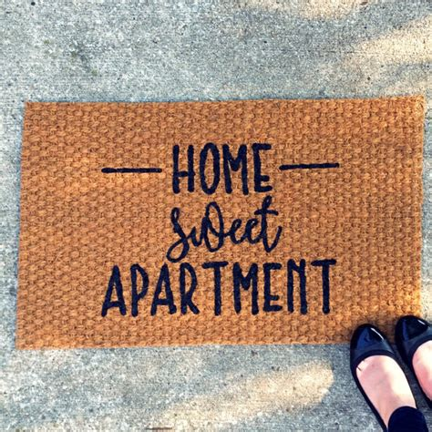 Home Doormat Home Sweet Apartment Doormat Outdoor Welcome Mat Entry Rug