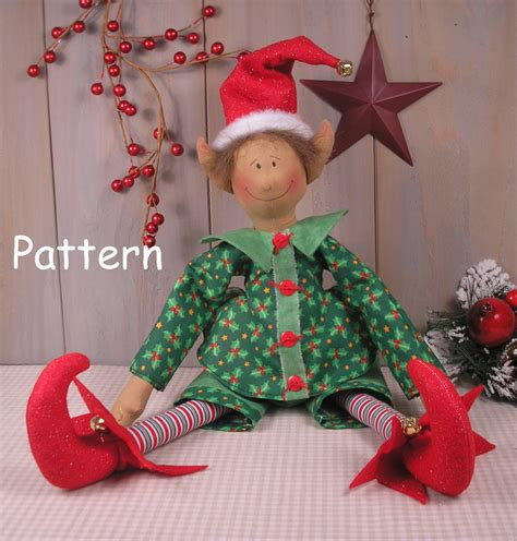 pattern for a christmas elf pdf e pattern 37 christmas elf vintage style primitive